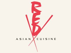 Red-Asian Cuisine, brand identity for restaurant in Grand Casino Biloxi
